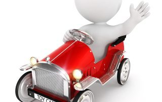 3d white people toy car