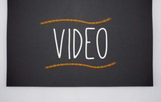 Video written on big blackboard
