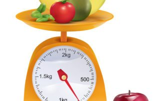 Fruits On Weighing Scale