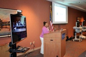 LearnTelehealth and Tamara Perry, at the eLink Roadshow event held at Pulaski Technical College