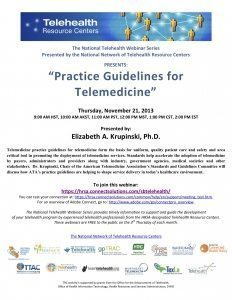 Practice Guidelines for Telemedicine flyer